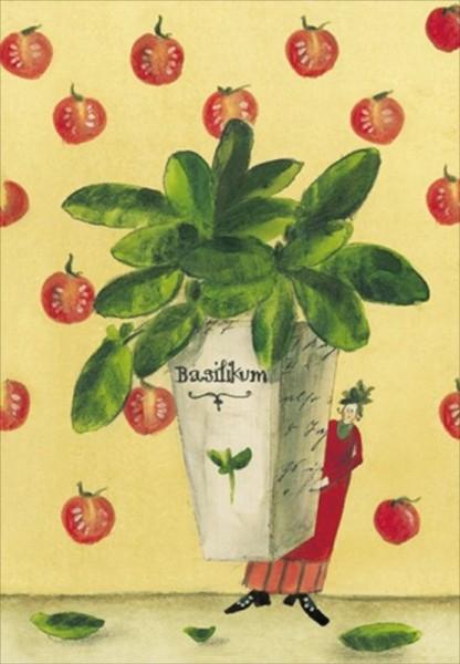 Kräutersamenkarte Basilikum