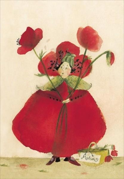 Blumensamenkarte Klatschmohn