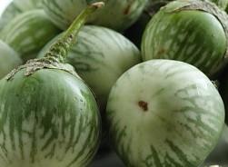Grüner Apfel, Aubergine
