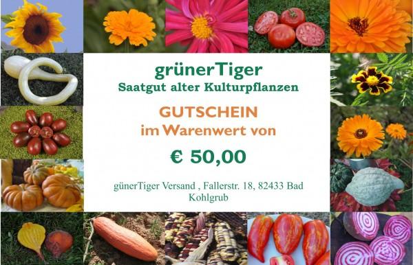 Geschenk-Gutschein € 50,- plus1 Tomate I