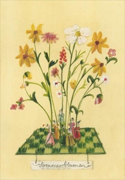 Blumensamenkarte Sommerblumen-Mischung