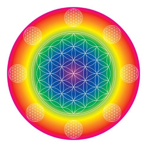 Energie-Mandala Die Blume des Lebens, foliert